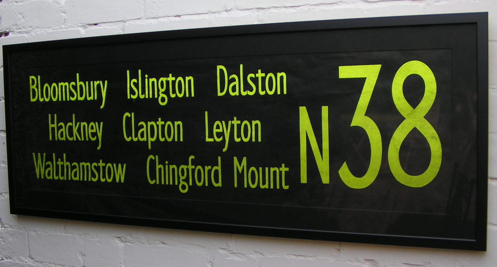 Yellow on Black Numbered Destinations