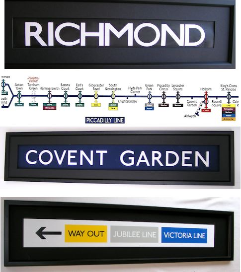 Underground, Tube and Railway Signs