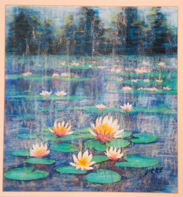 Pastel Painting Lillies