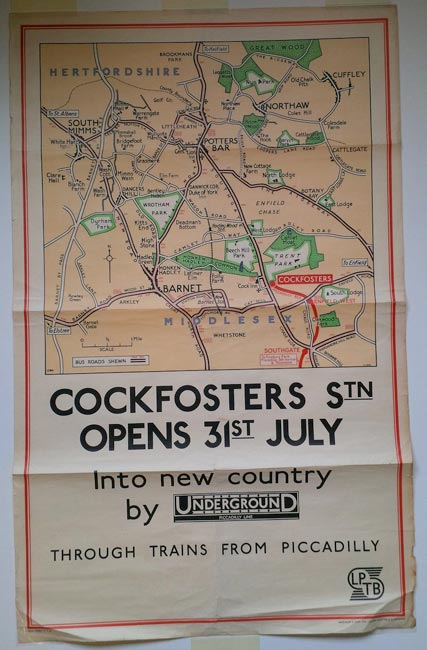 Cockfosters Station Map 1930