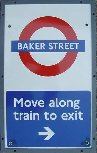 Baker Street Move Along Train To Exit