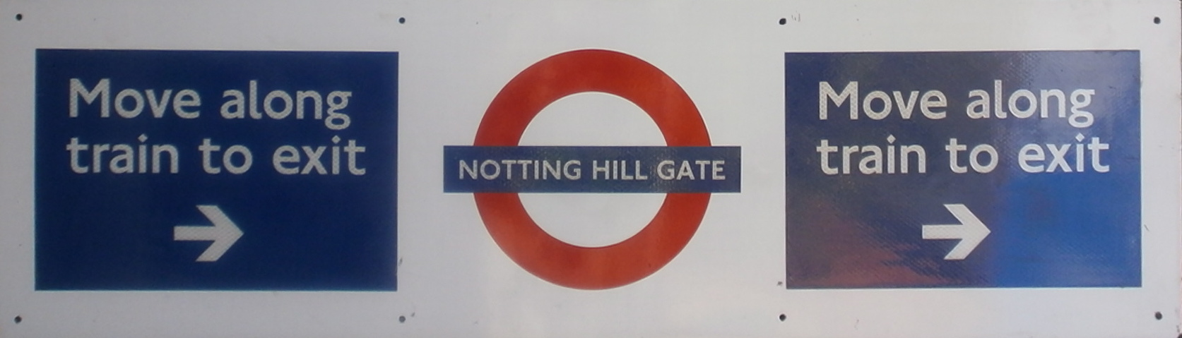 Notting Hill Gate Roundel & Exit Enamel Sign