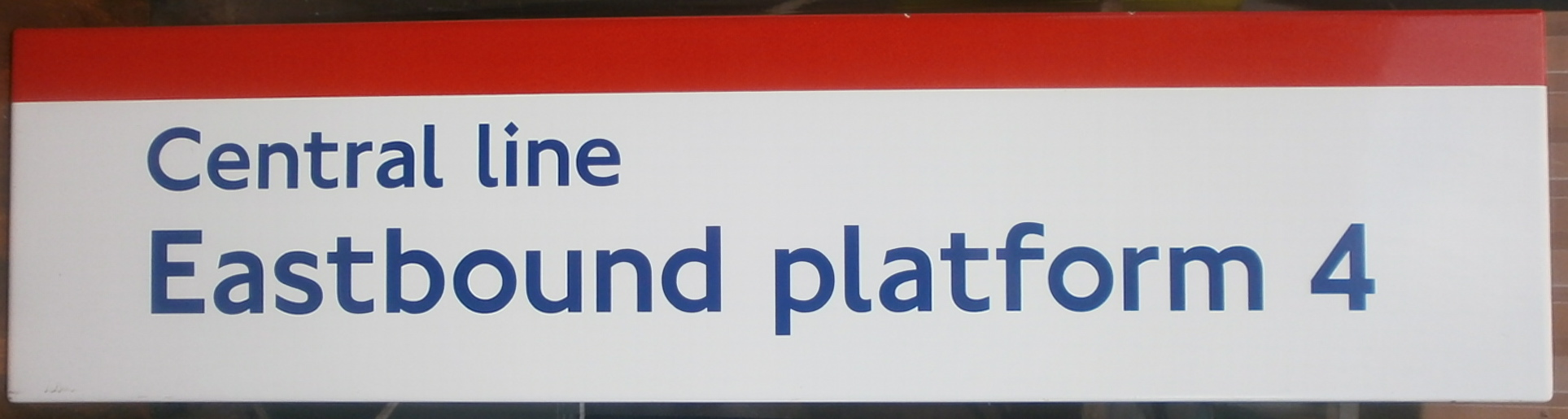 Central Line Enamel Platform Sign