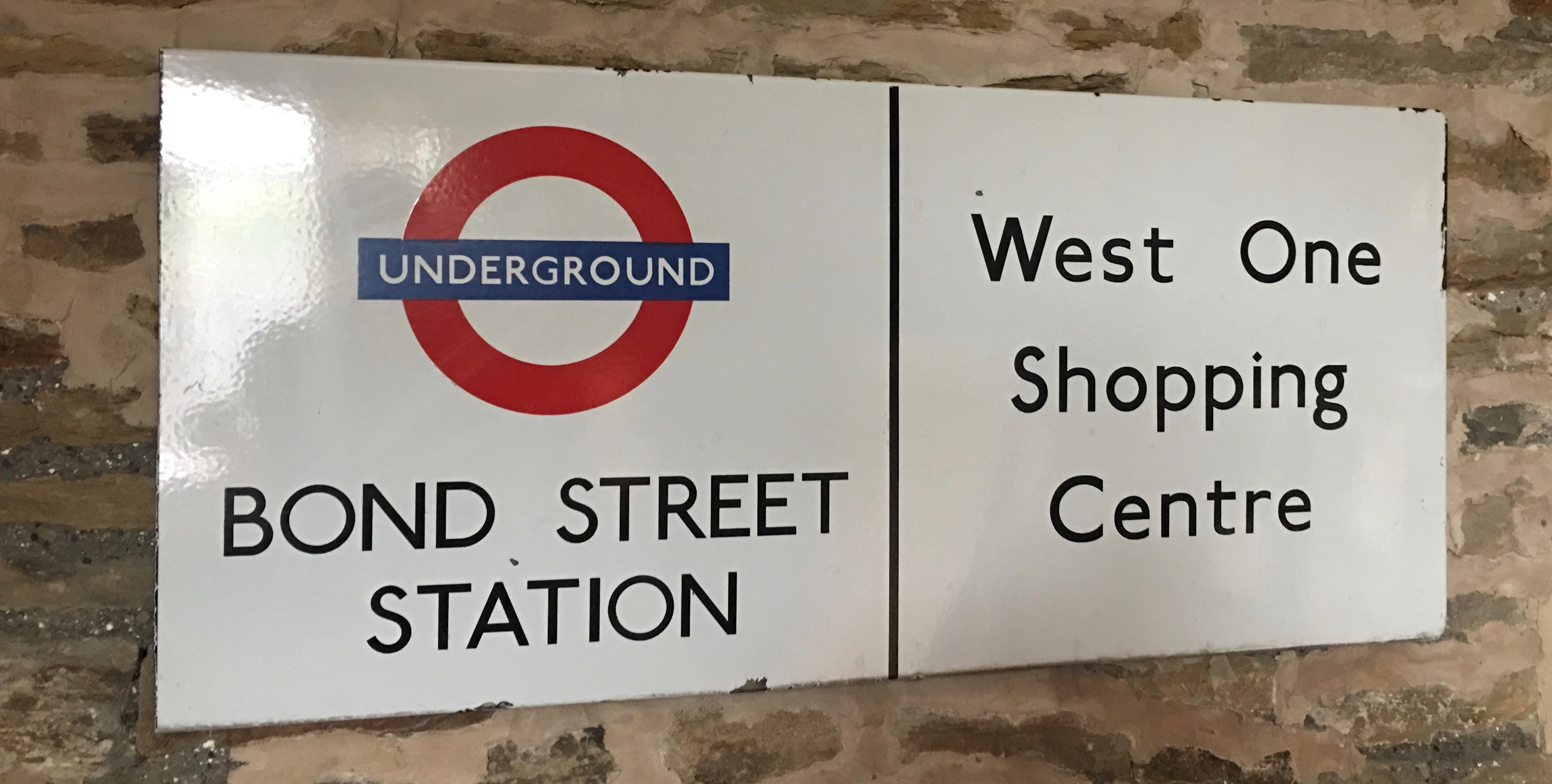 Bond Street Station Enamel Sign