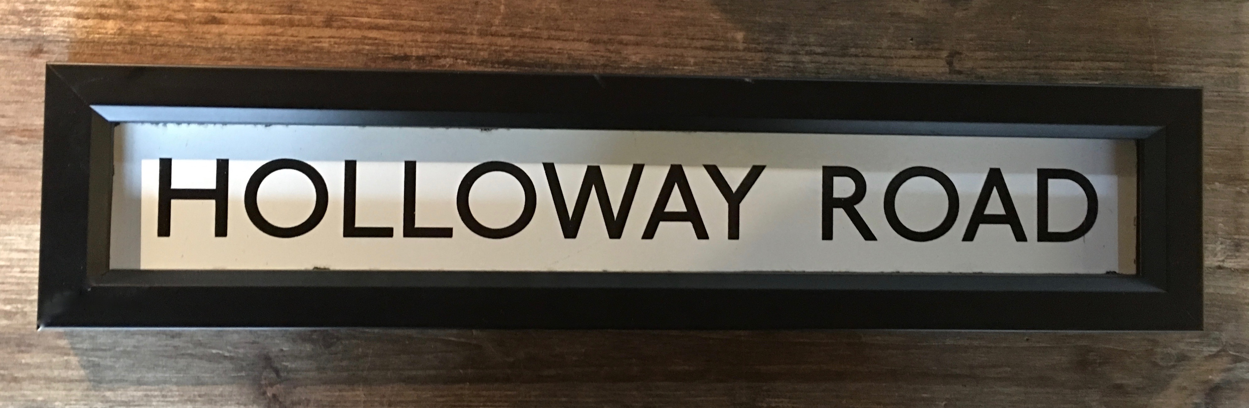 Holloway Road Enamel Sign