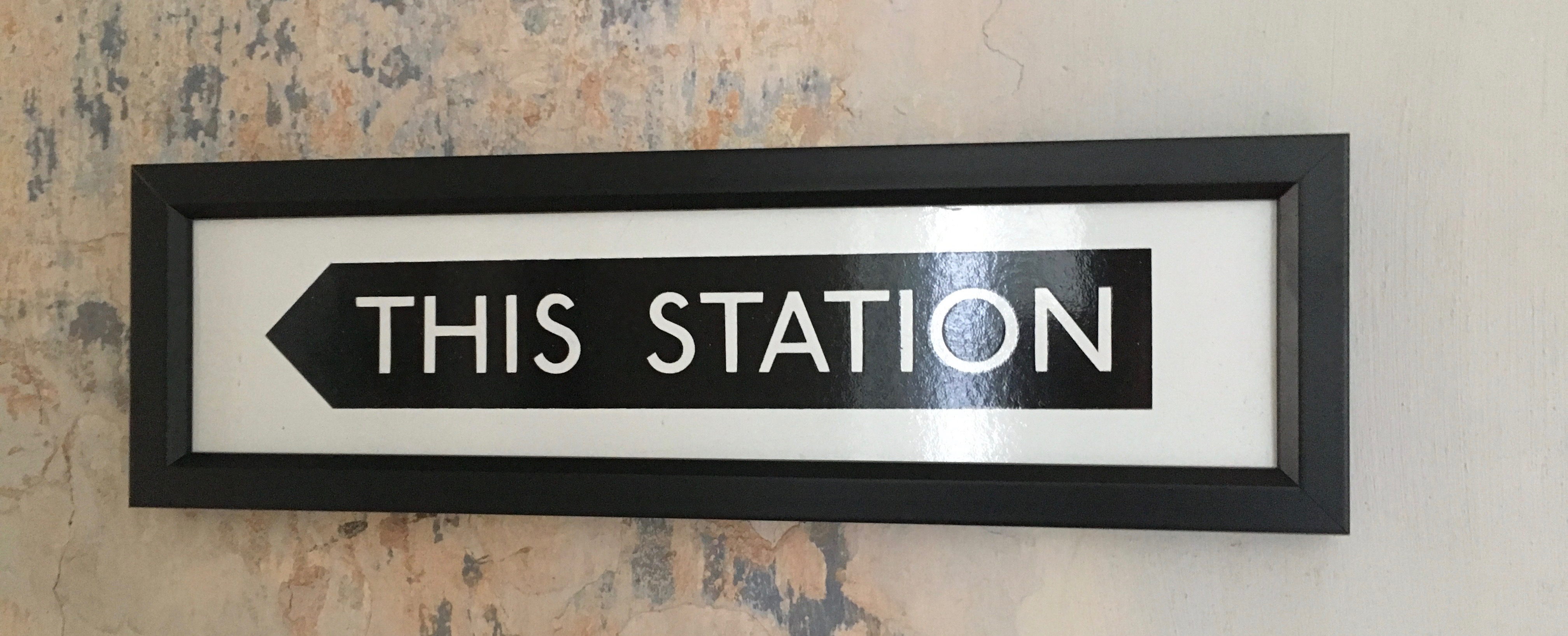 This Station Enamel Sign