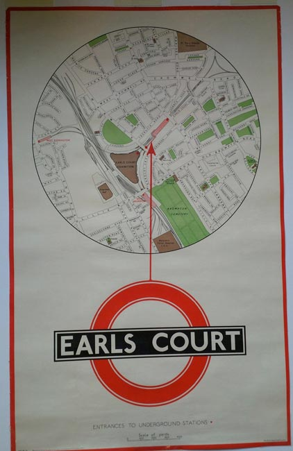 Earls Court Station 1930s Map