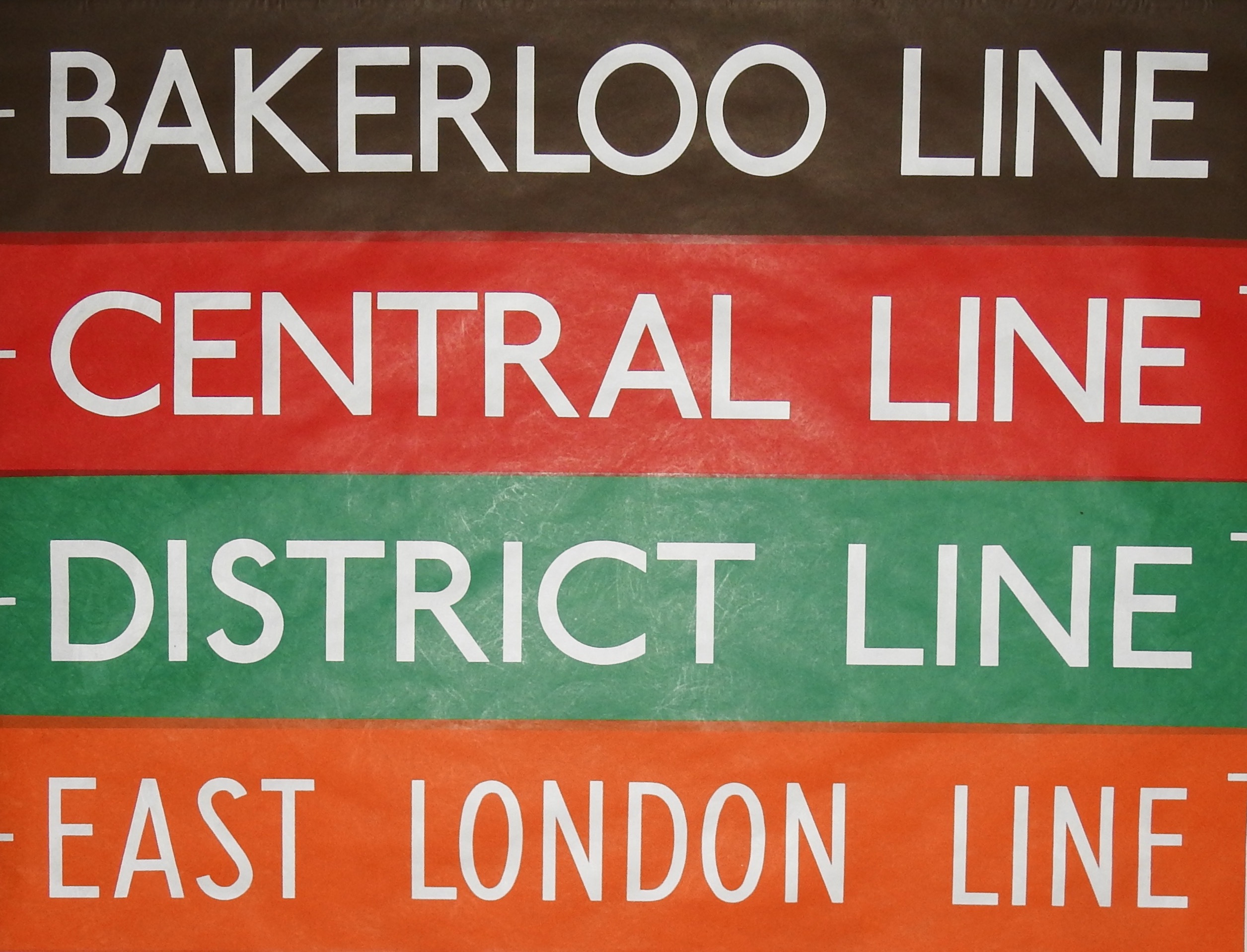 Bakerloo, Central, District, East London
