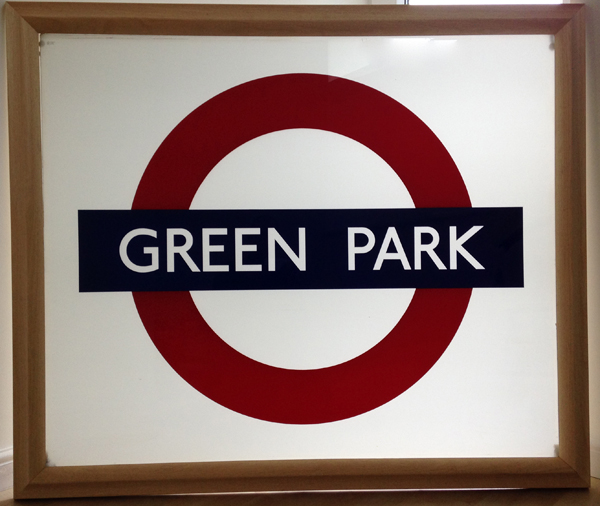 Green Park Station Sign Roundel Glass
