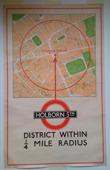 Holborn Station 1930s Map