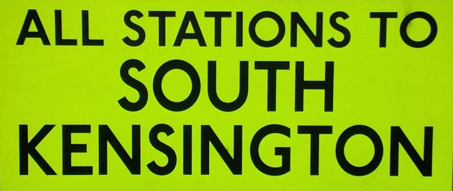 All Stations To South Kensington