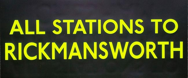 All Stations To Rickmansworth