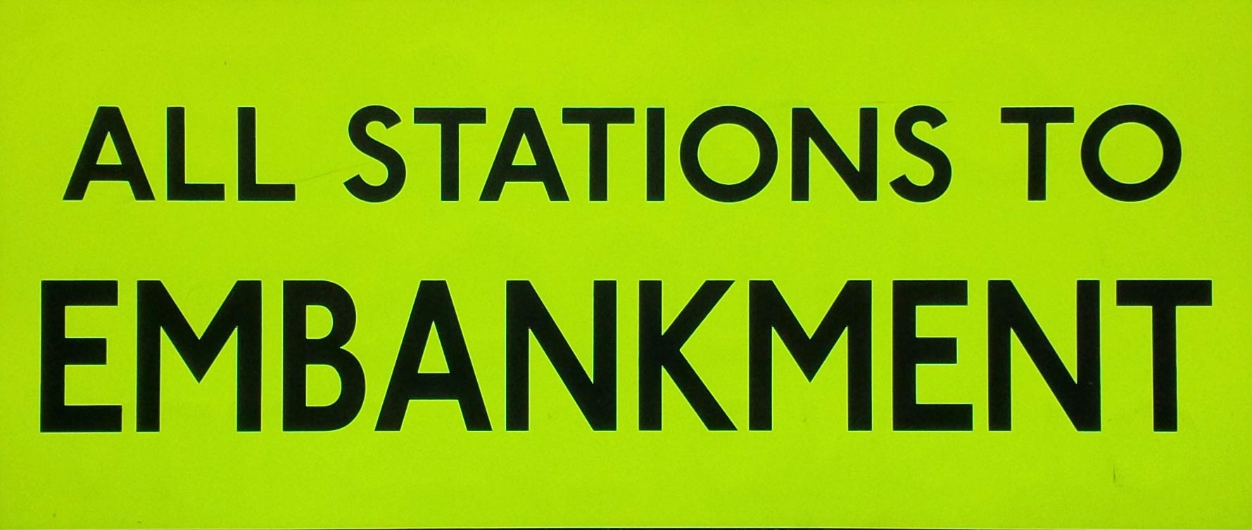 All Stations To Embankment