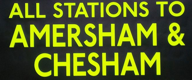 All Stations To Amersham & Chesham