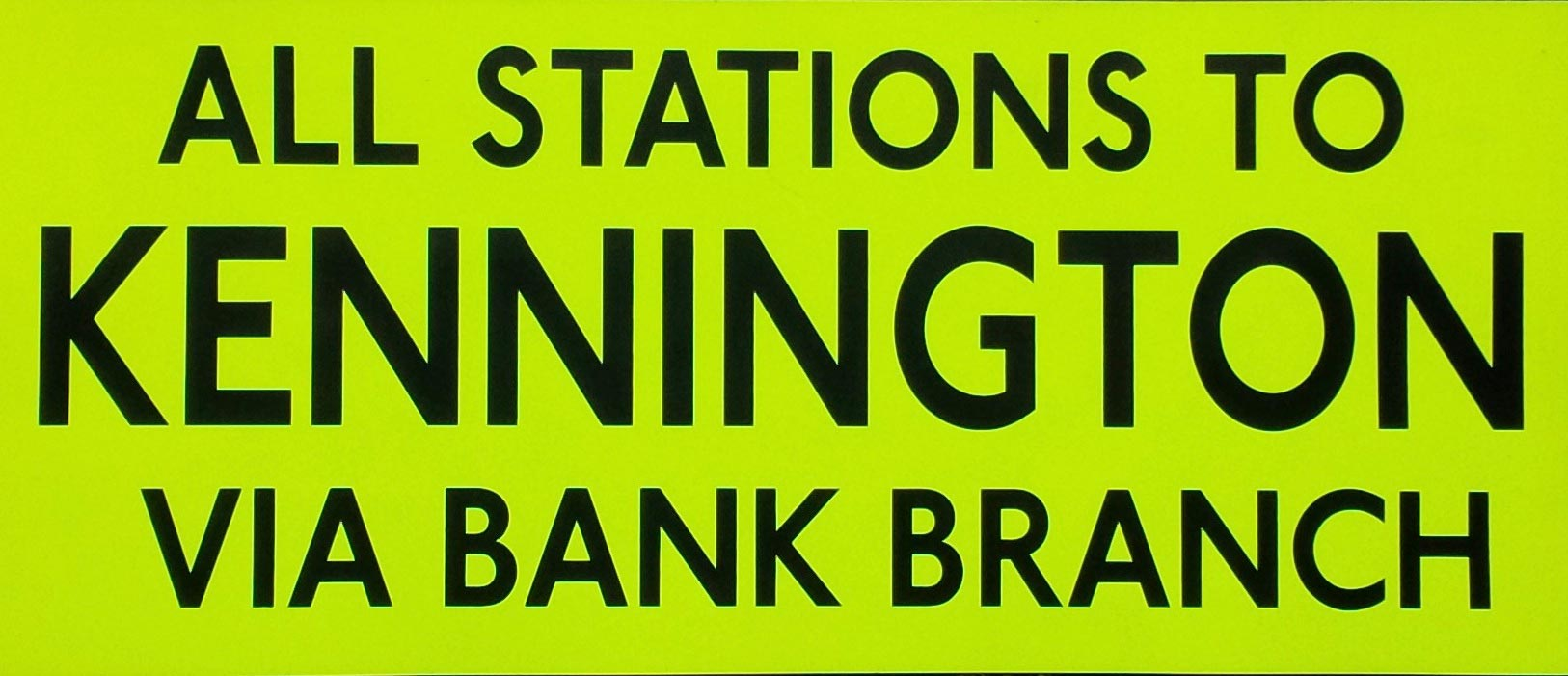 All Stations To Kennington via Bank