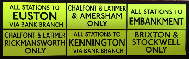 All Stations Euston, Ammersham Embankment, Rickmansworth, Kennington, Brixton, Stockwell