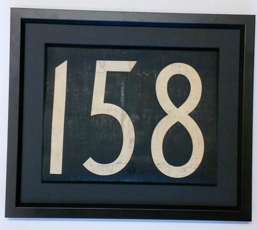 158 Bus Number *158*