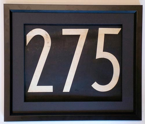 275 Bus Number *275*