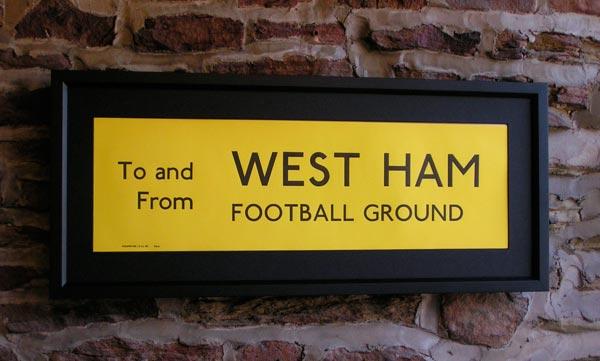 West Ham Football Ground, Hammers Upton Park
