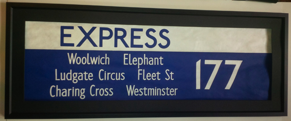177 Express, Woolwich, Elephant, Ludgate Circus, Fleet Street, Charing Cross,Westminster
