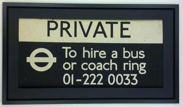 Private Hire Old Black & White Roundel