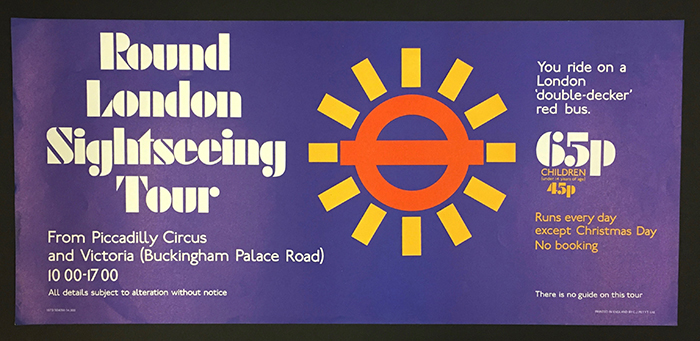 Information Poster Round London sightseeing tour