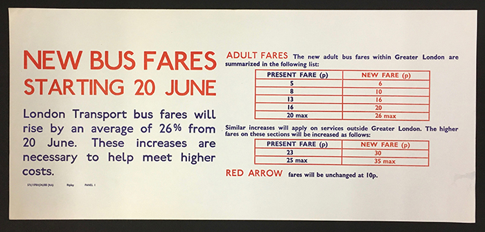 Information Poster New Bus Fares