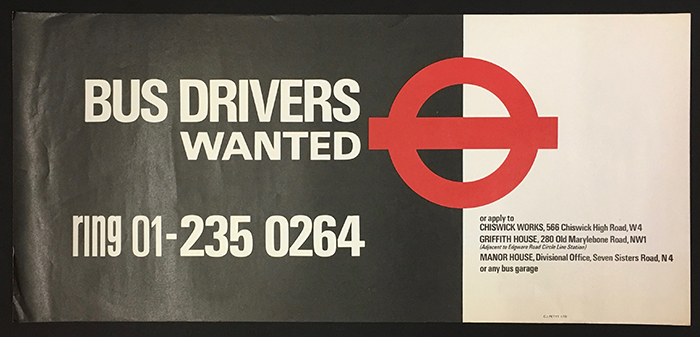 Information Poster New Bus Drivers Wanted