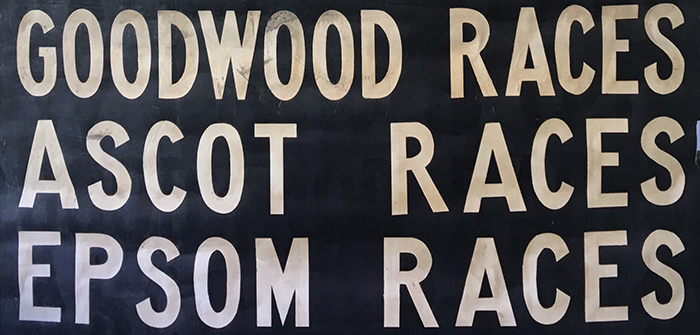 Goodwood, Ascot, Epsom Races